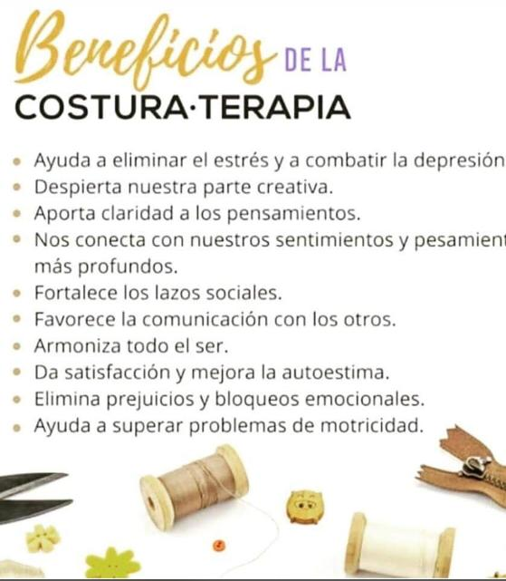 BENEFICIOS DE LA COSTURATERAPIA
